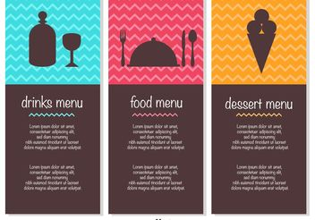 Free Menu Template Vectors - бесплатный vector #147239