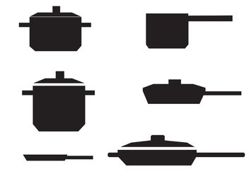 Free Vector Pan with Handle - Kostenloses vector #147249