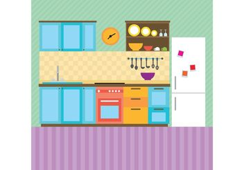 Modern Kitchen Vector - vector gratuit #147299