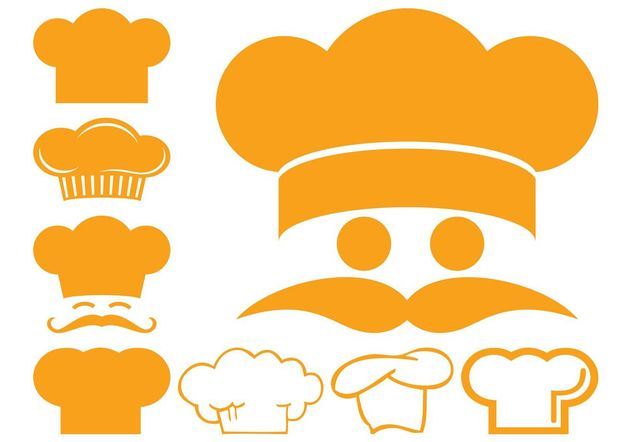 Chef Hat Icons - vector gratuit #147309