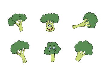 Free Broccoli Isolated Vector Series - бесплатный vector #147399