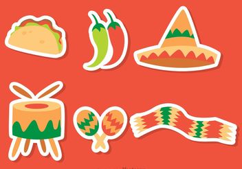 Mexican Icons Vectors Pack - Free vector #147419