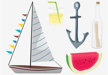 Summer Vector Graphics Pack - Free vector #147539