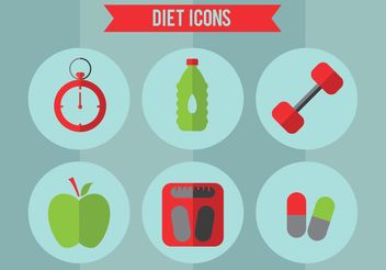 Diet Vector Icon Set - Free vector #147639