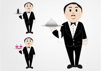 Waiters Vector - vector gratuit #147659