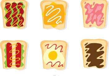 Set Of Sliced Bread Vectors - Free vector #147699