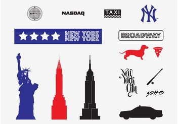New York Vectors - vector gratuit #147739