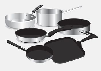Pan with Handle Vectors - Kostenloses vector #147749