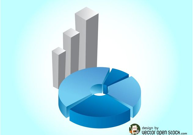 3d Charts Graphics - Free vector #147769