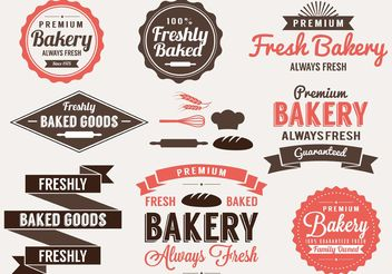 Bakery Labels and Elements - vector gratuit #147789