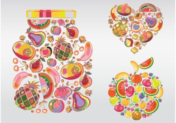 Fruit Illustrations - vector gratuit #147849