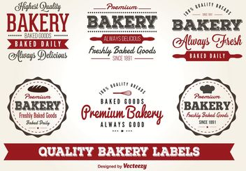 Vector Bakery Labels - vector gratuit #147939