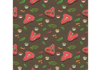 Free T Bone Steak Vector Pattern - бесплатный vector #147999