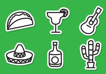 Mexcican Outline Icons - Free vector #148019