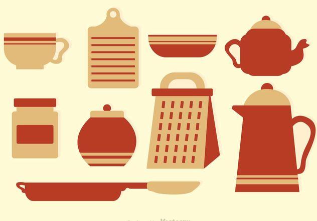 Vintage Küche Vektor Icons Kostenloser Vektor Download
