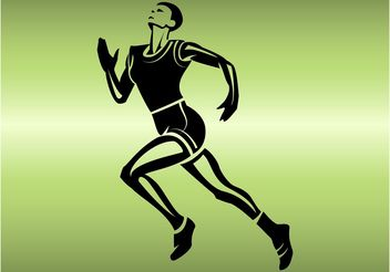 Running Athlete - vector #148049 gratis