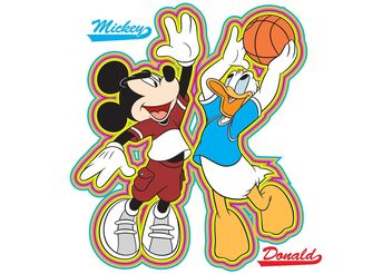 mickey and donald basketball - Free vector #148059