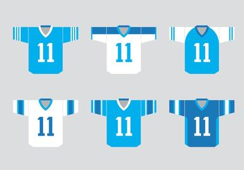 Football Sports Jersey Vectors - vector gratuit #148079