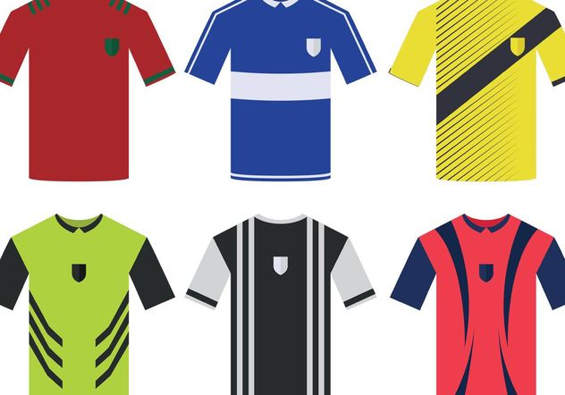 Soccer Sports Jersey Vectors - Free vector #148109