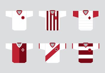 Soccer Sports Jersey Vectors - бесплатный vector #148119