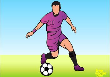 Man Playing Football - Kostenloses vector #148149