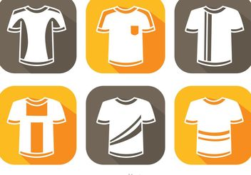 Soccer Jersey White Icons Vector - vector gratuit #148179