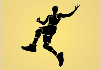 Jumping Man Vector - Free vector #148199