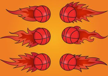Basketball on Fire Vectors - бесплатный vector #148209
