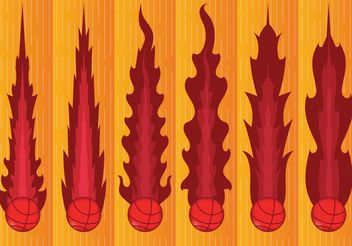 Basketball on Fire Vectors - Free vector #148229