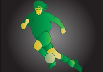 Stylized Football Player - vector gratuit #148259