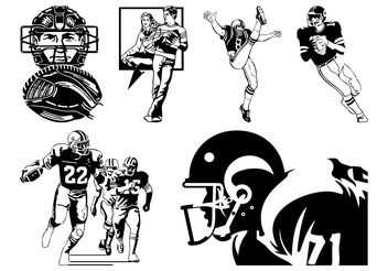 American Football Vector - vector #148369 gratis