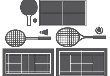 Racket Sports - vector gratuit #148389