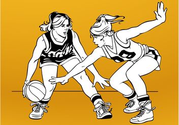 Basketball Girls - Free vector #148399