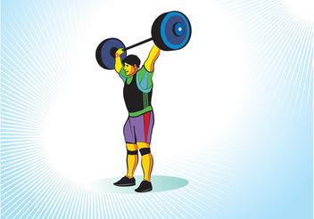 Weight Lifter - vector #148529 gratis