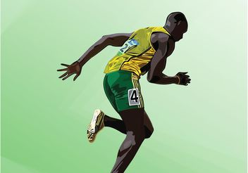 Usain Bolt Vector - бесплатный vector #148539