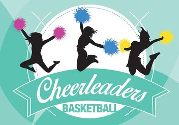 Cheerleding Backgrounds Vector - Free vector #148559