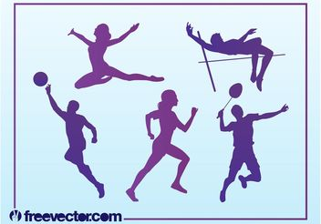 Free Sport Silhouettes - Free vector #148569