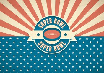 Free Super Bowl Retro Vector Background - бесплатный vector #148599