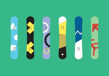 Snowboard Isolated Vectors - Free vector #148609