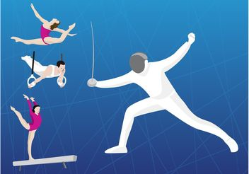Olympic Sports - vector gratuit #148689