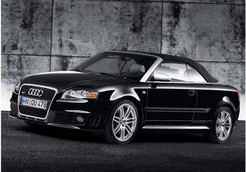 Black Audi RS4 Cabriolet - Free vector #148699