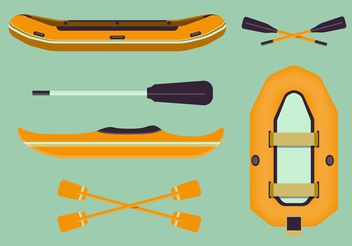 River Rafting Vector Set - Free vector #148719