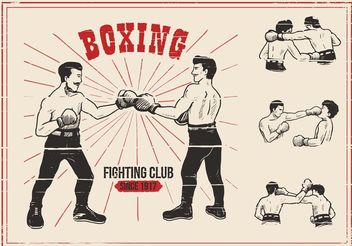 Old Time Boxing Vectors - vector gratuit #148729