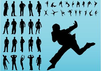 Moving Silhouettes - vector gratuit #148769