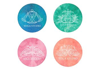 Free Yoga Logo Vector Set - бесплатный vector #148819