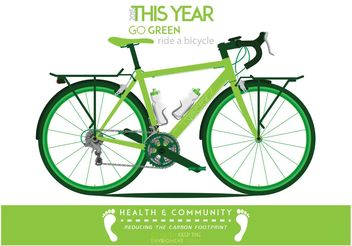 This Year GO GREEN - vector gratuit #148829