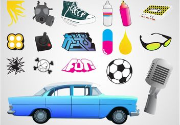 Cool Urban Designs - Free vector #148859