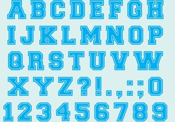 University Font Type Vectors - vector gratuit #148869