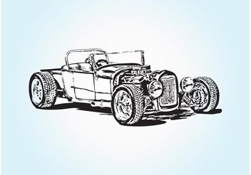 Retro Sport Car - Free vector #148949
