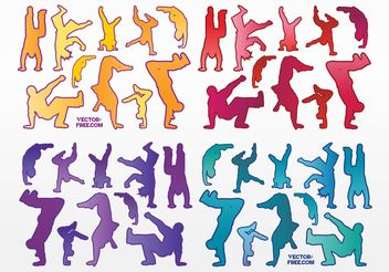 Urban Dancers - vector gratuit #148959
